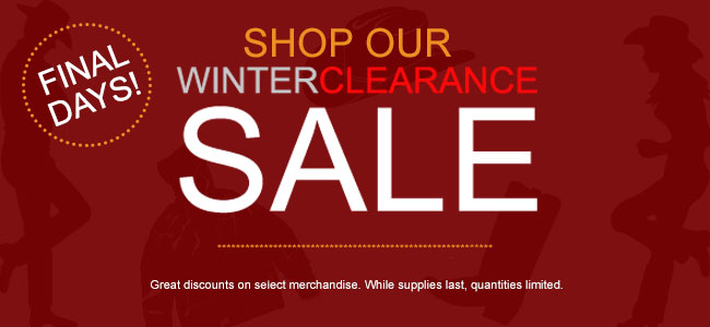Winter Clearance Sale on In Stock Merchandise