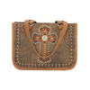 Las Cruces Multi-Compartment Zip Top Tote - Chestnut Brown/Golden Tan