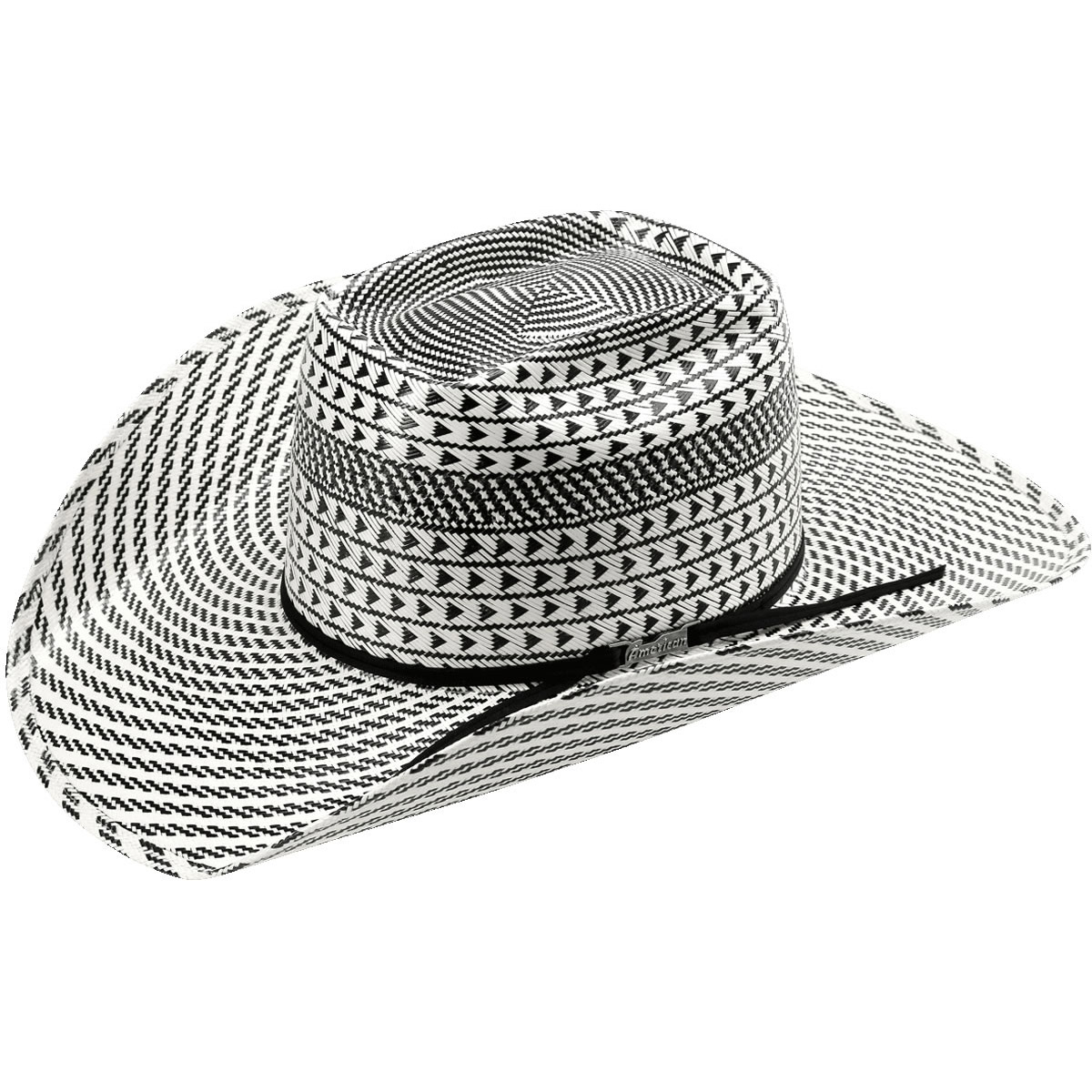 f87d008c1e3 Custom Order ETA  2-4 weeks. FREE US Shipping for Orders  100   Up.  American Hat Co 15☆ Swirl Vented Straw Hat - Black White