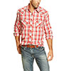 Ariat Men's Carlos Long Sleeve Shirt - Crimson Flame