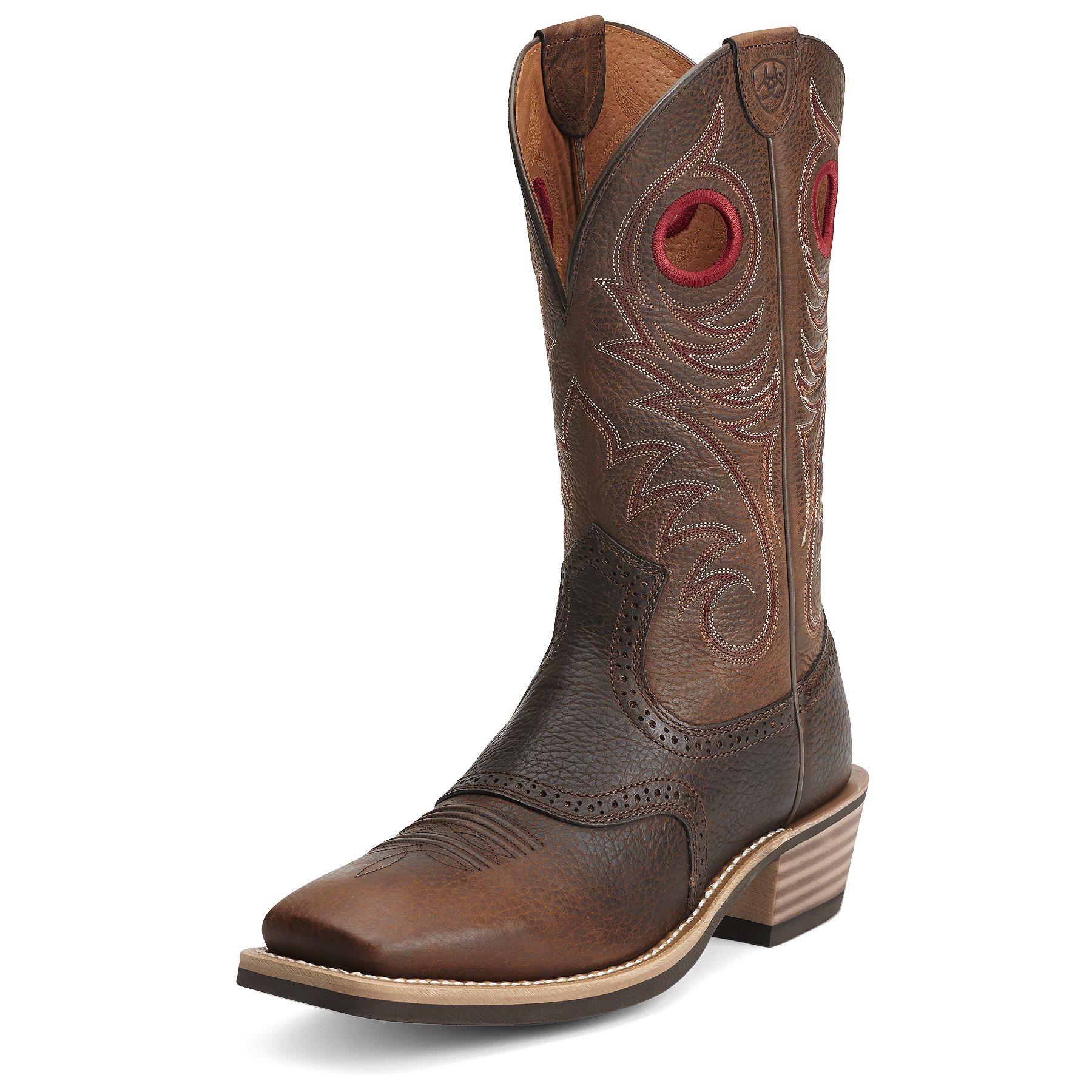 pungo ridge ariat heritage roughstock wst boots brown