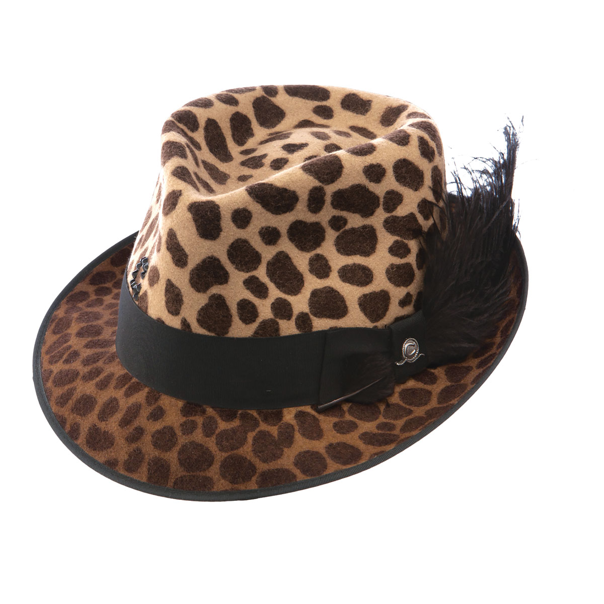 58d7e96743cd9 Pungo Ridge - Charlie 1 Horse On The Prowl Felt Hat - Leopard ...
