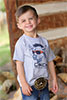 Cinch Toddler's Bull In Sunglasses Tee - Heather Grey