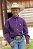 Cinch Boy's L/S Triangle Print Button-Down Shirt - Purple