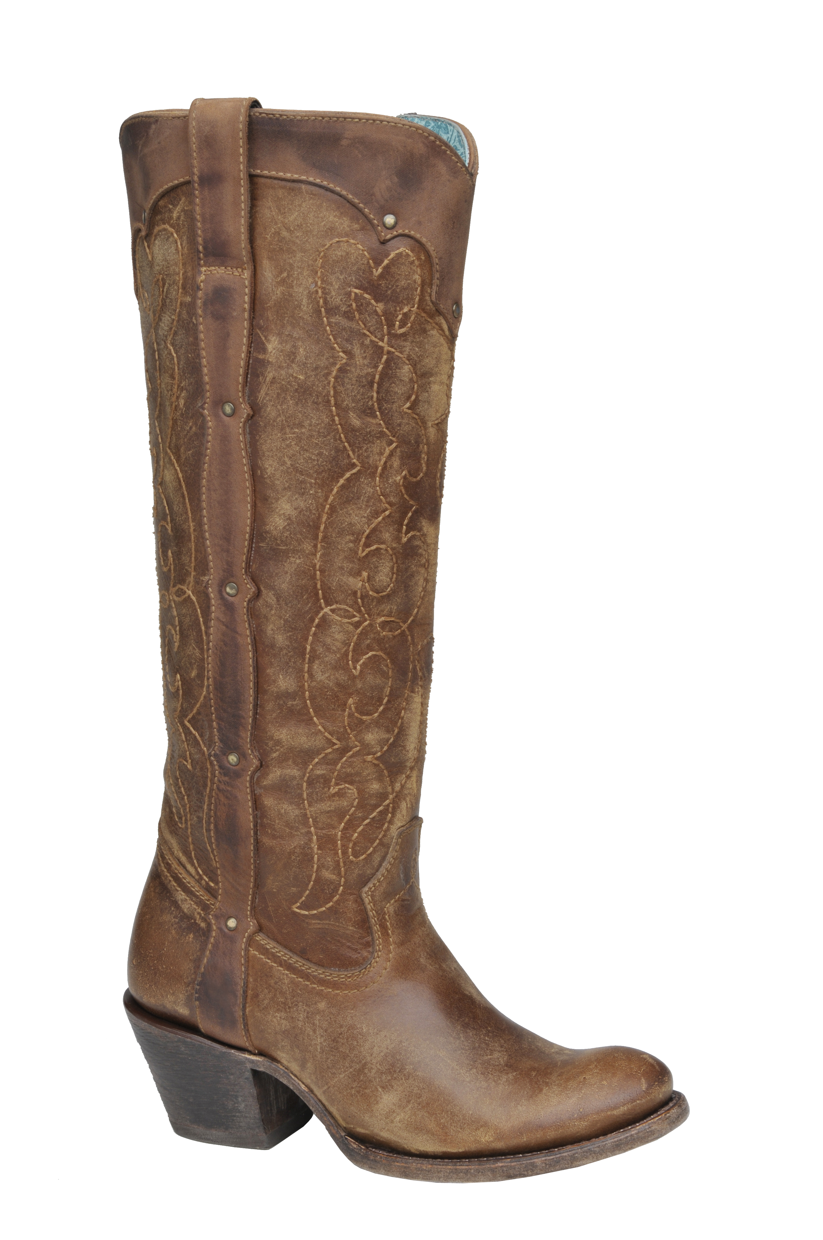 Brilliant Corral Womens Brown-Chocolate Snake Inlay Boots A2404 - Cowboy Shop - Cowboy Shop