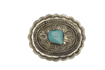 Corral Ladies Turquoise Engraved Buckle