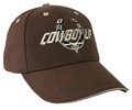 Cowboy Up Embroidered Ball Cap - Brown