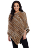 Cripple Creek Ladies Rabbit Fur Poncho