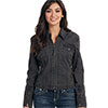 Cripple Creek Ladies Ranchwear Canvas Jacket - Pewter