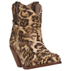 Dingo� Women's Leopard Shorty Boots w/Studs - Tan