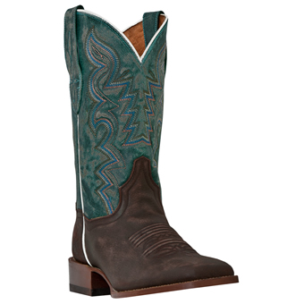 Dan Post� Cowgirl Certified� San Saba Leather Boots - Copper/Turquoise