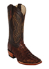 Ferrini Men's Caiman Crocodile Tail D Toe Boots - Sport Rust