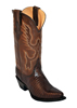 Ferrini Ladies Lizard V Toe Western Boots - Chocolate
