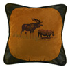 Embroidered Moose Pillow