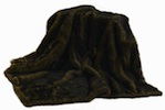 Faux Mink Throw - Brown