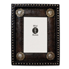 Tooled Faux Leather Frame w/Silver Conchos