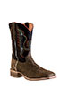 Old West Outlaw Men's Square Toe Boots - Brown/Black