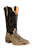 Old West Outlaw Men's Square Toe Elephant Print Boots - Oryx/Black