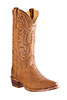 Old West Outlaw Men's R Toe Boots - Tan