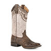 Roper Ladies Lacey Mae Etched & Studded Boots - Brown