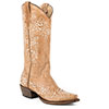 Roper Ladies Bouquet Snip Toe Boots - Light Brown