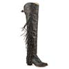 Stetson Ladies Glam Tall Fashion Boots w/Fringe - Brown