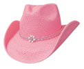 Bullhide All American Girl Straw Hat - Pink