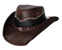 Bullhide Bonfire Leather Hat - Chocolate