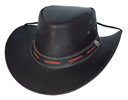 Bullhide Maitland Leather Hat - Dark Brown