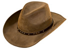 Outback Gold Dust Leather Hat - Brown