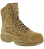 "Reebok Women's Stealth 8"" Boot w/ Side Zipper - Coyote"