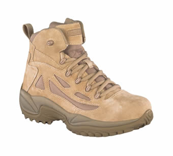 Reebok Men's Desert Tan Stealth 6 Military Boots w/Side Zip