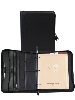 Scully Soft Plonge Leather Zip Binder - Black