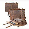 Scully AeroSquadron Collection Walnut Antique Lamb Sachel/Briefcase
