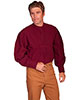 Scully Men's RangeWear Pleated Front Pullover - Burgundy