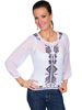 Scully� Crinkled Georgette Blouse - White