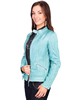 Scully Ladies Zip Front Lamb Jacket - Blue River