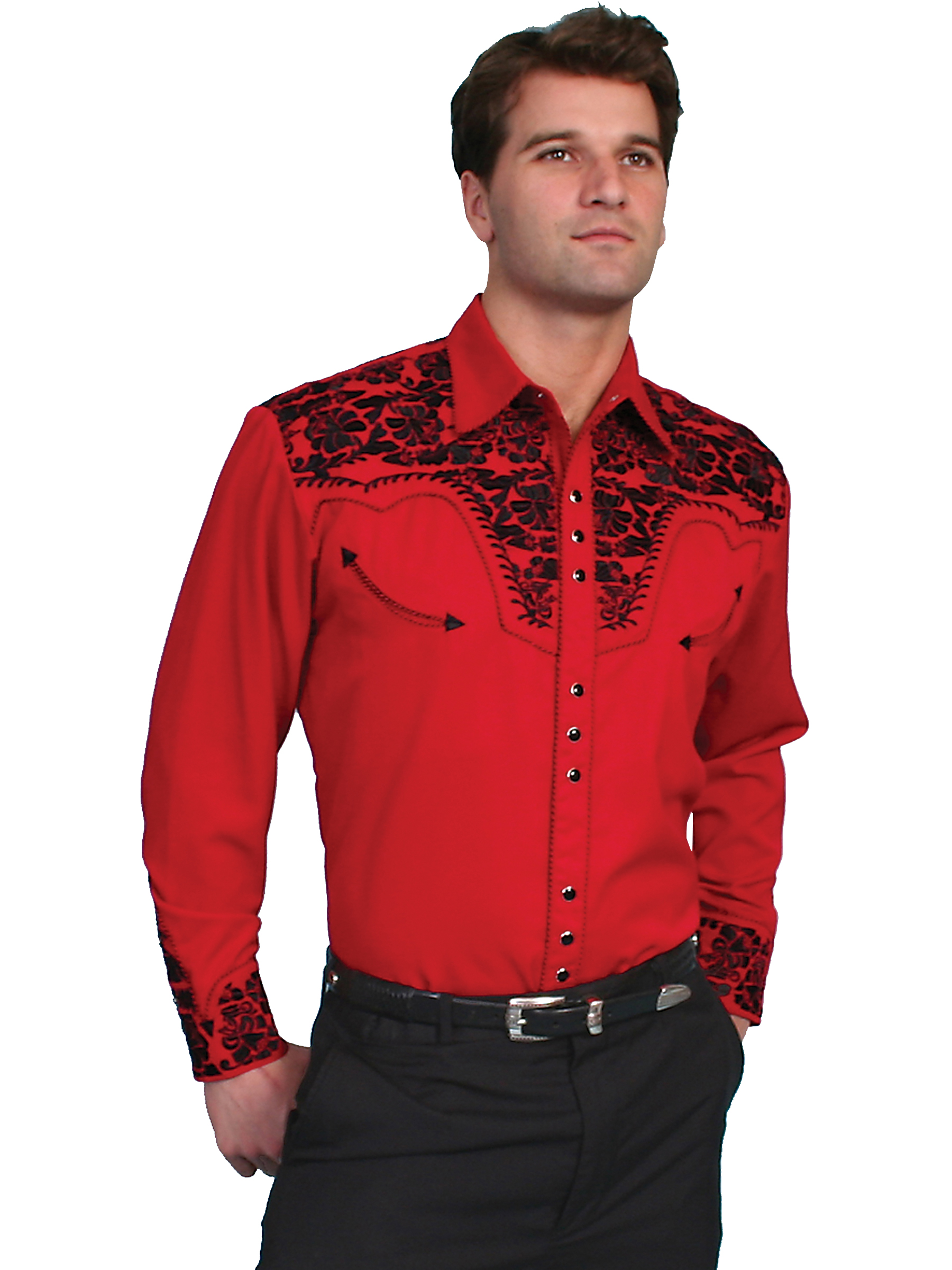 Pungo Ridge Scully Men 39 S Shirt W Floral Tooled