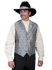 Scully Men's Rangewear Paisley Vest - Grey