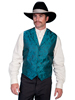 Scully Men's Rangewear Paisley Vest - Teal