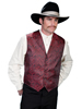 Scully� RangeWear� Men's Notch Collar Dragon Vest - Red