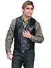 Scully Men's Italian Lamb Western Vest - Black
