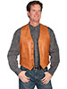 Scully Men's Hand Finished Lamb Western Vest - Ranch Tan