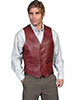 Scully Men's Hand Finished Lamb Western Vest - Black Cherry