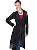 Scully Ladies Boar Suede Fringed Maxi Coat - Black