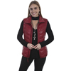 Scully Ladies Ribbed Leather Vest - Red