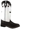 Smoky Mountain� Women's Pueblo Leather Western Boot - Dark Brown/White/Cross