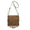 Catchfly Lauren Fringe Crossbody - Brown