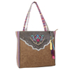 Catchfly Venus Mexican Blanket Tote Bag - Pink