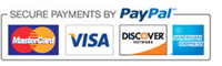 Secure Payments by PayPal - All Major Credit and Debit Cards Accepted